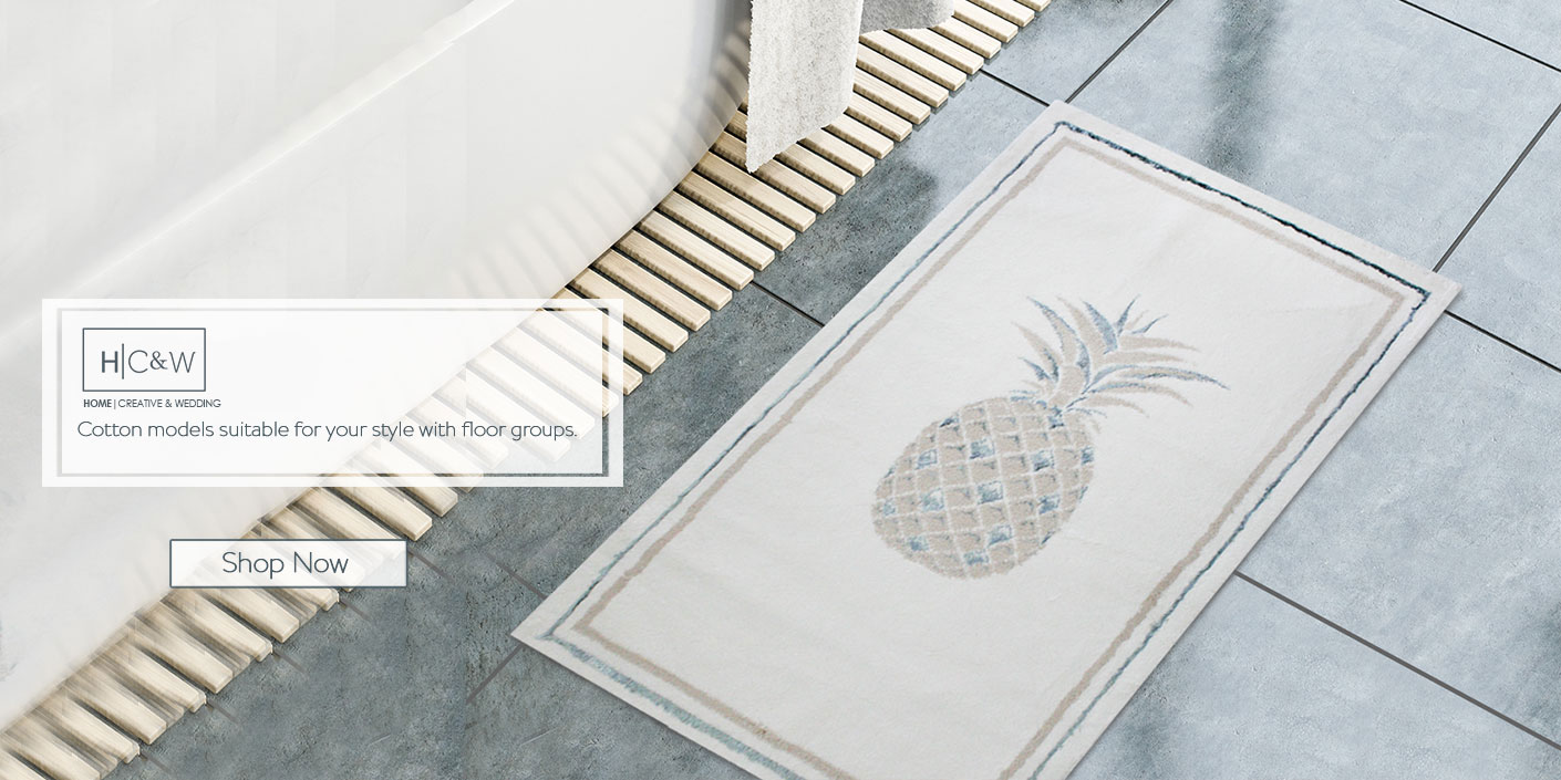 Tropical aqua bath mat