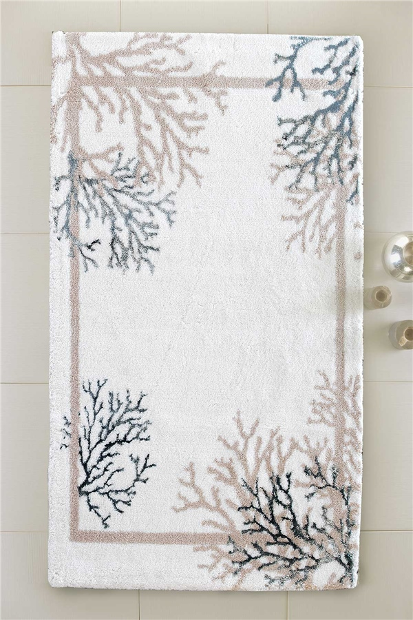HCW Reef Cotton Viscon Bath Mat 80x150 cm - Aqua