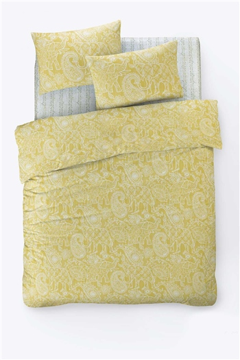 Fancy Double Size Duvet Cover Set Bohem Yellow