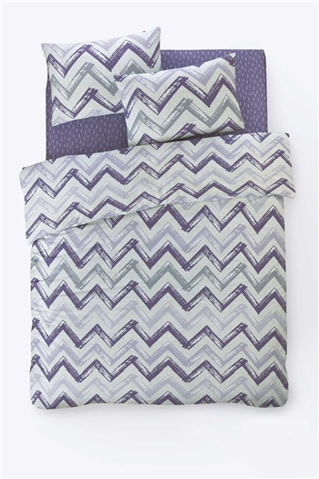 Fancy Double Size Duvet Cover Set Chevingon Lilac