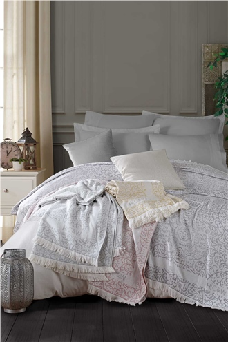 Laurin Double Size Peshtemall Bed Cover Set